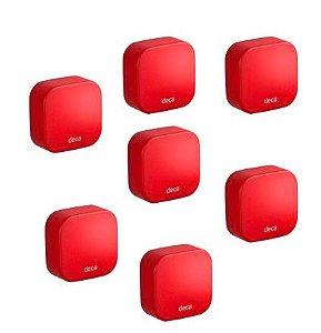 Kit Capinha Silicone P/Acessórios Deca Pix Vermelho Kids 2007.VER01.KD Deca