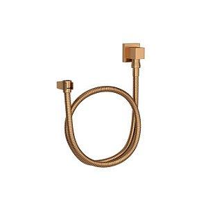 Kit Flexível Quadrado com Suporte para Ducha Manual 1,70m 4604.GL.170.MT Gold Matte Deca