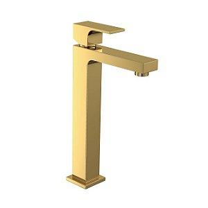 Misturador Monocomando de Mesa Bica Alta para Lavatório Unic 2885.GL90 Gold Deca