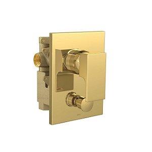 Misturador Monocomando 4 Vias de Chuveiro com Desviador para Banheira Unic 2994.GL90 Gold Deca