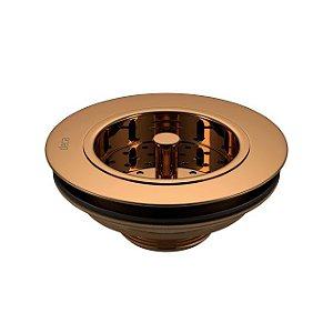 """Válvula de Escoamento para Pia de Cozinha 4.1/2"""" Red Gold 1622.GL.RD Deca"""
