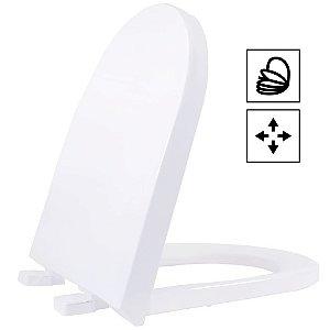 Assento Duna/Carrara/Lk PP Soft Close Branco Tupan