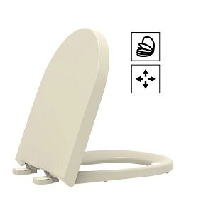Assento Duna/Carrara/Lk PP Soft Close Creme Tupan