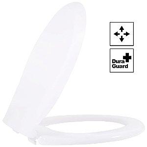 Assento Oval Universal Luxo Termofixo Convencional Branco Tupan