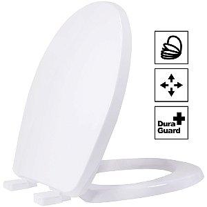 Assento Oval Universal Evolution Termofixo Soft Close Branco Tupan