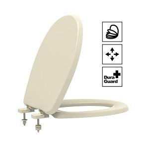 Assento Oval Universal Termofixo Soft Close Creme Tupan