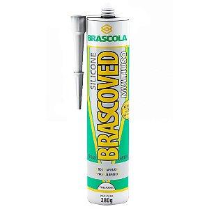 Silicone Brascoved Construção Transparente 280g Brascola