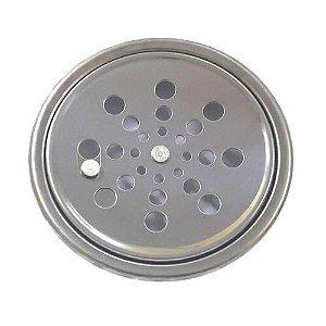 Grelha Redonda Inox com Caixilho Rotativa 150mm Clarinox