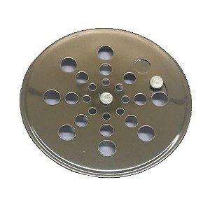 Grelha Redonda Inox sem Caixilho Rotativa 150mm Clarinox