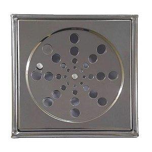 Grelha Quadrada Inox com Caixilho Rotativa 150mm Clarinox