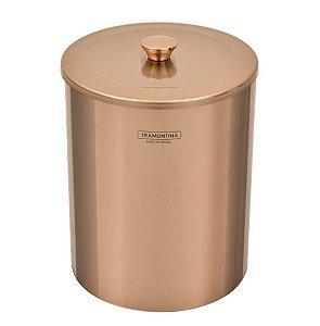 Lixeira Útil em Aço Inox Polido Rose Gold 5 Litros 94540/053 Tramontina