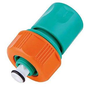 """Engate Rápido com Aquastop em Plástico para Mangueira 5/8"""" e 3/4"""" 78508/600 Tramontina"""