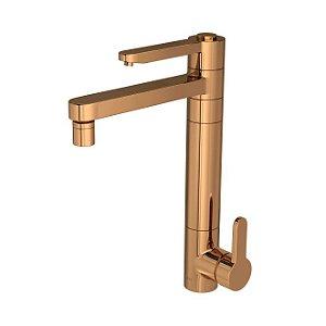 Misturador Monocomando para Cozinha Mesa com Filtro Twin Click 2240.GL.CLICK.RD Red Gold Deca