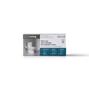 Kit Bacia com Caixa Acoplada e Acessórios para Instalação Living Branco KP.340.17 Deca