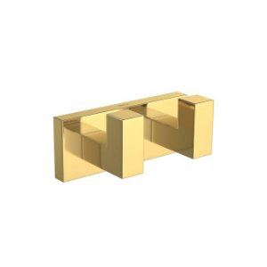 Cabide Duplo Quadratta 2062.GL83 Gold Deca