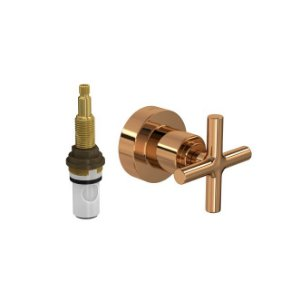 """Acabamento para Registro de Pressão 1/2"""" e 3/4"""" com Mecanismo 1/2 Volta Duna Clássica 4916.GL64.PQ.RD Red Gold Deca"""