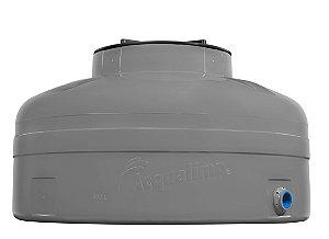 Caixa D'Água Fácil Instalação 500L Cinza Acqualimp