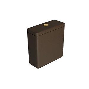 Caixa Acoplada com Acionamento Duo Piano/Polo/Quadra CD.21F.GL.22 Marrom Fosco/Gold Deca