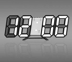 Relógio Digital 3D Led Parede e Mesa