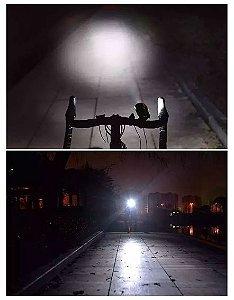 Farol com Buzina Recarregável para Bicicleta