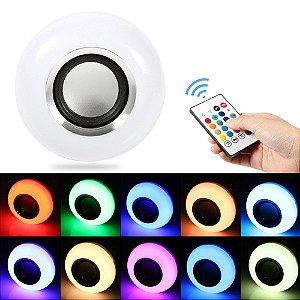 Lâmpada Musical Colorida Bluetooth - Music Bulb LED