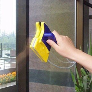 Limpador Magnético Para Janelas E Aquários Com Feltro E Imã