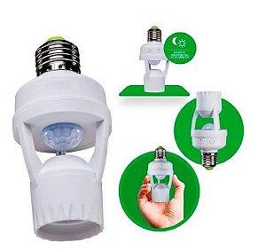 Sensor De Presença Para Lâmpada Soquete E27 Com Fotocélula