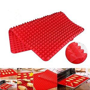 Tapete Culinário Piramidal Em Silicone 30 X 40 Cm Kehome