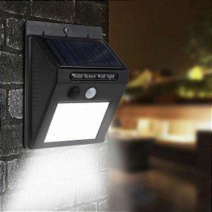 Luminária Solar de Parede Sensor Movimento Acendimento Automático