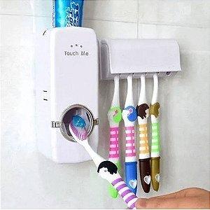 Dispenser Pasta de Dente C/ Suporte Para Escovas