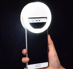 Selfie Ring Light Clipe Anel Led Usb Celular 3 Intensidades de Luz