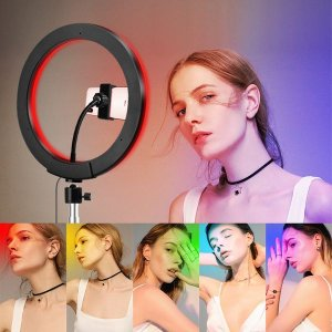 Ring Light RGB Colorido Profissional Youtuber Blogueira C/ Tripé