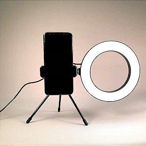 Ring Light De Mesa  Usb Com Tripe 16cm
