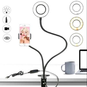 Ring Light Profissional Portátil Suporte Celular Blogueira Live Streaming