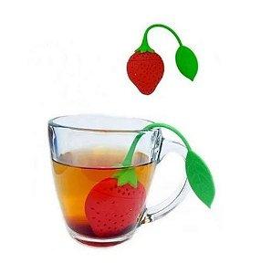 Infusor para Chá Morango Em Silicone