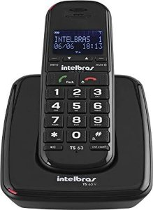 Telefone sem fio digital TS 63 V Intelbras Identificação de chamadas TS63V