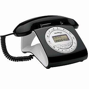 Telefone com Fio Intelbras Retrô TC8312 com Viva voz e Identificação de Chamadas - Preto