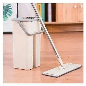 Flat Mop  Com Balde E 1 Refil Gratis Rodo Esfregão - AMIGOLD
