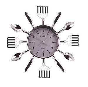 Relógio de Parede Para Cozinha Talheres