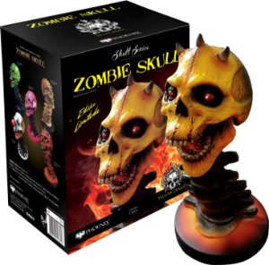 YELLOW DEMON ZOMBIE SKULL  - SKULL SERIES