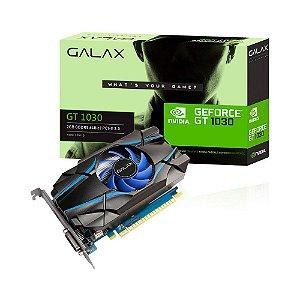 Placa de Vídeo GEFORCE GT 1030 Galax 2GB GDDR5 VGA NVIDIA 64Bits 30NPH4HVQ4ST