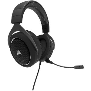 Headset Gamer Corsair 7.1 USB Preto/Branco HS60 - CA-9011174-NA