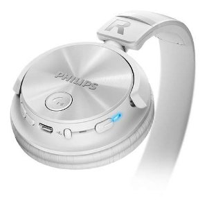 Headphone Wireless Bluetooth Com Microfone Integrado Shb3060wt/00 Branco Philips