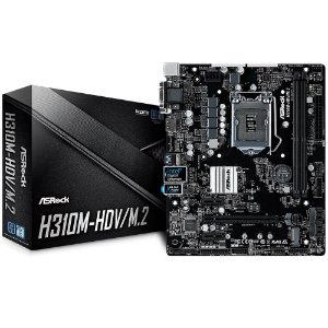 Placa Mãe p/ Intel LGA 1151 ASRock H310M-HDV (1151/DDR4/HDMI/DVI-D/VGA/mATX)