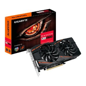 Placa de Vídeo VGA Gigabyte AMD Radeon RX 570 4GB Gaming GDDR5 DVI-D/HDMI/DP - GV-RX570GAMING-4GD