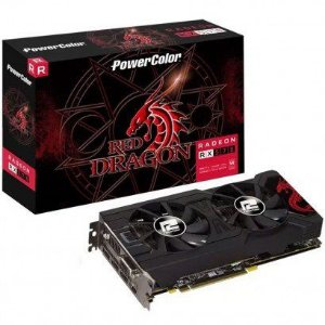 Placa de Vídeo PowerColor Red Dragon AMD Radeon RX 570 4GB, GDDR5 - AXRX 570 4GBD5-3DHDV2/OC