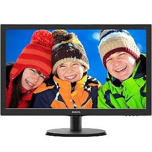 """Monitor LED Philips 21,5"""" 223V5LHSB2 Preto"""
