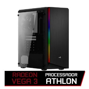 PC GAMER FLITZ - ATHLON 200GE, AB350M, 8GB DDR4 DUAL CHANNEL, GM500, SSD 240GB