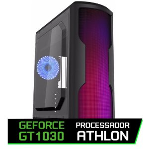 PC GAMER FLITZ - ATHLON 200GE, GT 1030, AB350M, 8GB DDR4, GM500, SSD 240GB, WAVE