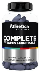 complete vitamin minerals atlhetica nutrition 100 tabletes
